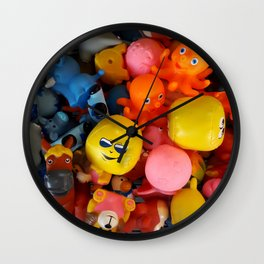 Rubber dolls colorful animals Wall Clock