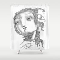 venus Shower Curtains featuring VENUS by helia aluai