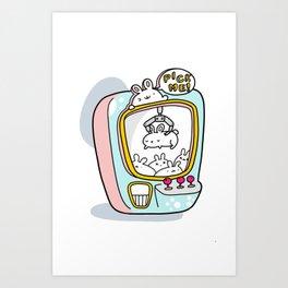 Bunny Pickers Art Print