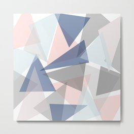 colorful triangles Metal Print