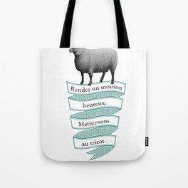 Rendez un mouton heureux ! Tote Bag