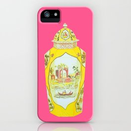 ROYAL WORCESTER PRINT PINK iPhone Case