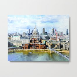 st-paul-s-london-millenium-bridge Metal Print