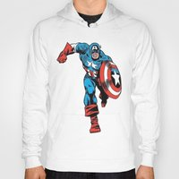 avenger Hoodies featuring Avenger: Cap' by Popp Art