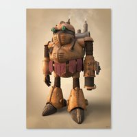 chrono trigger Canvas Prints featuring Prometheus | Chrono Trigger by Geison Araujo