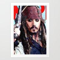 jack sparrow Art Prints featuring Jack Sparrow by Brian Raggatt