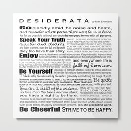 Desiderata - Black and White Metal Print