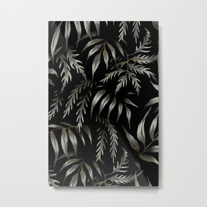 Brooklyn Forest - Black Metal Print