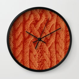Irish sweater (orange) Wall Clock