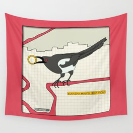 Eurasian Magpie Wall Tapestry