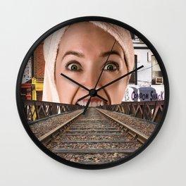 Open Wide Wall Clock