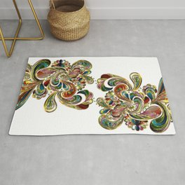 Liquid Bling Paisley Tattoo Rug