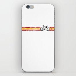 Cyclist Flag Spain Spanish ES  Bike Race Cycling Black iPhone Skin