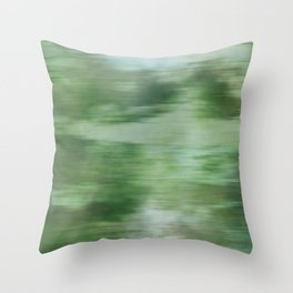 Green Fusion Illustration Digital Watercolor Artwork Throw Pillow
