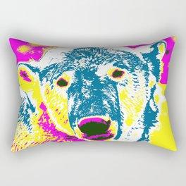 Pop Art Polar Bear 1 Rectangular Pillow