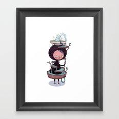 Bath Suit Framed Art Print