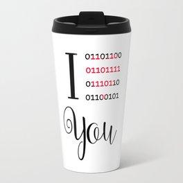 Our love in binary code Travel Mug