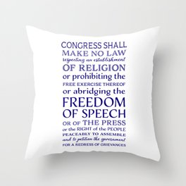 Defend Your Freedom of Speech Throw Pillow