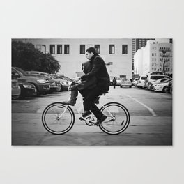 Brothers biking  Canvas Print