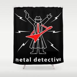Metal Detective Shower Curtain