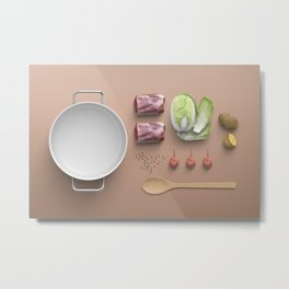 Food Flatlay Metal Print