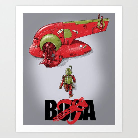 BobAkira (red) Art Print