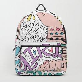 Girl Power Illustration Backpack