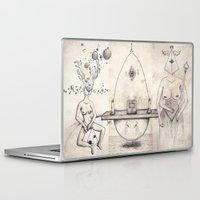 tarot Laptop & iPad Skins featuring Tarot: I - The Magician by Jæn ∞