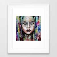 waterfall Framed Art Prints featuring Waterfall  by Bella Harris