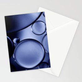 Oil On Water - Midnight Blue Stationery Cards