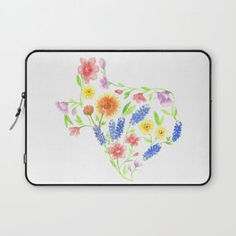 Texas wildflower watercolor Laptop Sleeve