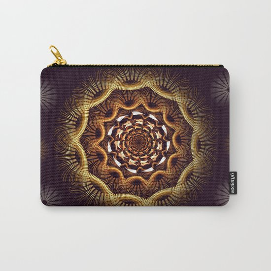 Golden curves and tribal patterns Carry-All Pouch