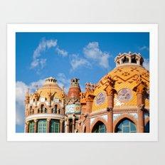 Modernism architecture in Barcelona Art Print