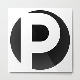 P Metal Print