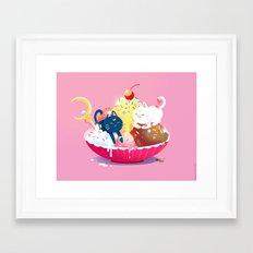 Moonie Sundae Framed Art Print