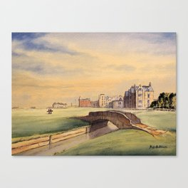 St Andrews Golf Course Scotland 18th Hole Canvas Print