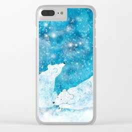 Dreaming polar bears Clear iPhone Case