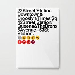 New York Helvetica Metal Print