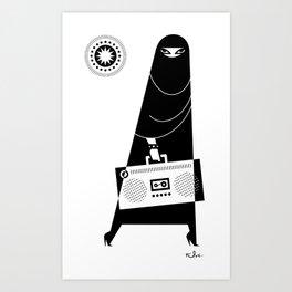 Burka Chic Art Print