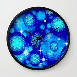 FROSTY BLUE Wall Clock