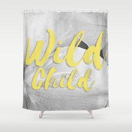 Wild Child - Banana Yellow Shower Curtain
