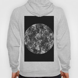 Silver Moon - Abstract, textured silver foil lunar design Hoody