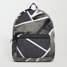 black and white flower Backpack