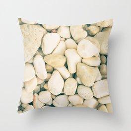 White sea pebble Throw Pillow