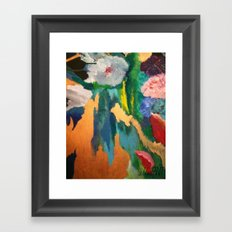floral abstract Framed Art Print