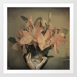 The face of fowers Art Print