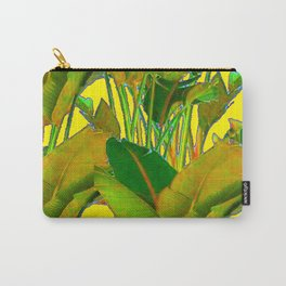 GOLDEN TROPICAL FOLIAGE GREEN & GOLD LEAVES AR Carry-All Pouch