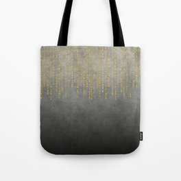 Dark Glamour golden faux glitter Tote Bag