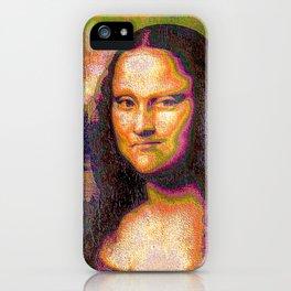 Neon Mona Lisa With Attitudes iPhone Case