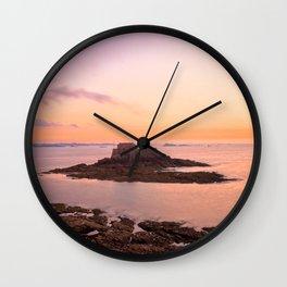 Saint-Malo Twilight Coast Wall Clock